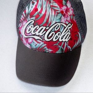 Tropical Themed Coca-Cola Snap Back Hat